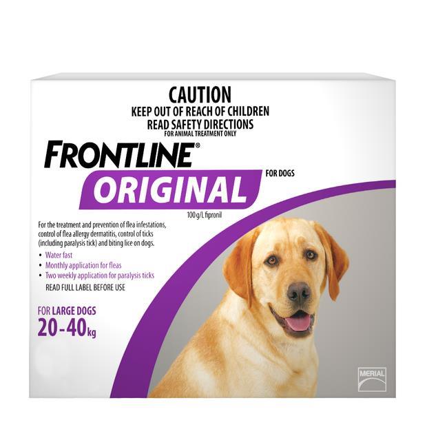 Frontline Original Large Dog Purple 4 Pack
