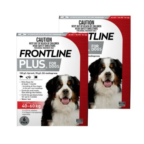 Frontline Plus Extra Large 40-60kg Red 12 pack