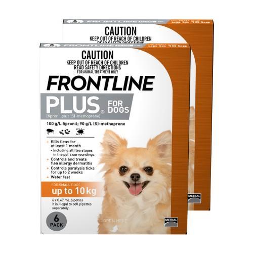 Frontline Plus Small Under 10kg Orange 12 pack