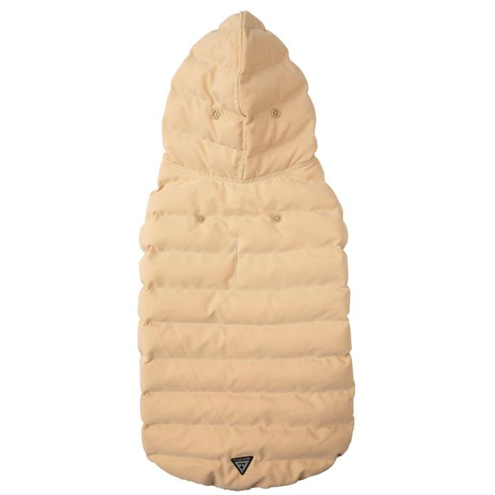 FuzzYard Aspen Hoodie Beige Dog Jacket