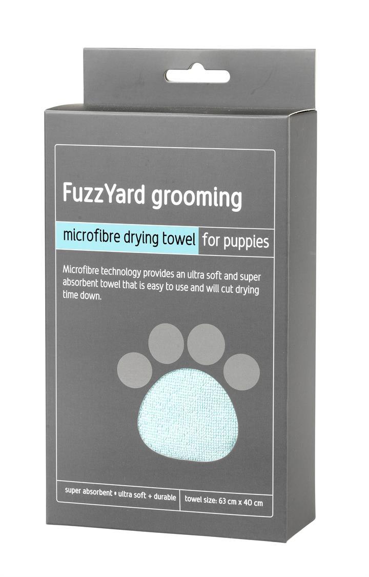 FuzzYard Blue Microfibre Dog Drying Towel