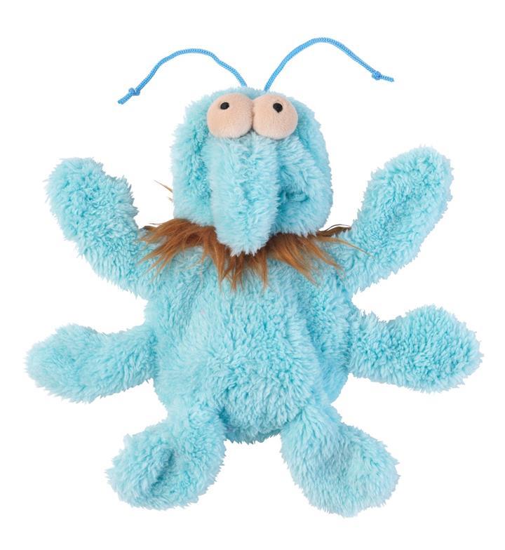 FuzzYard Flat Out Nasties Scratchmo the Blue Flea Dog Toy