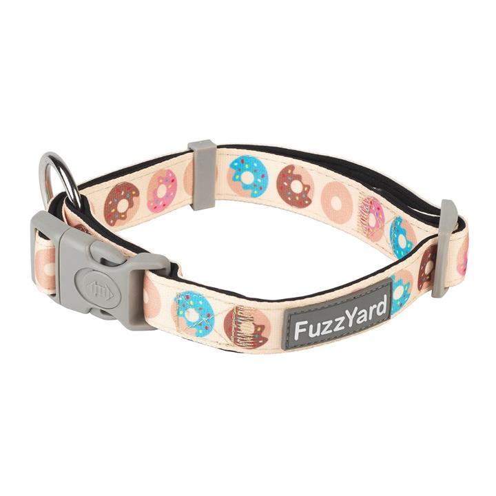 FuzzYard Go Nuts Cream Dog Collar Small