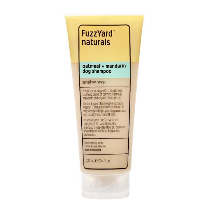 FuzzYard Oatmeal & Mandarin Sensitive Dog Shampoo 220ml