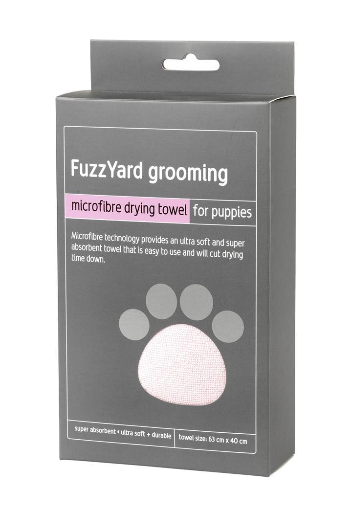 FuzzYard Pink Microfibre Dog Drying Towel