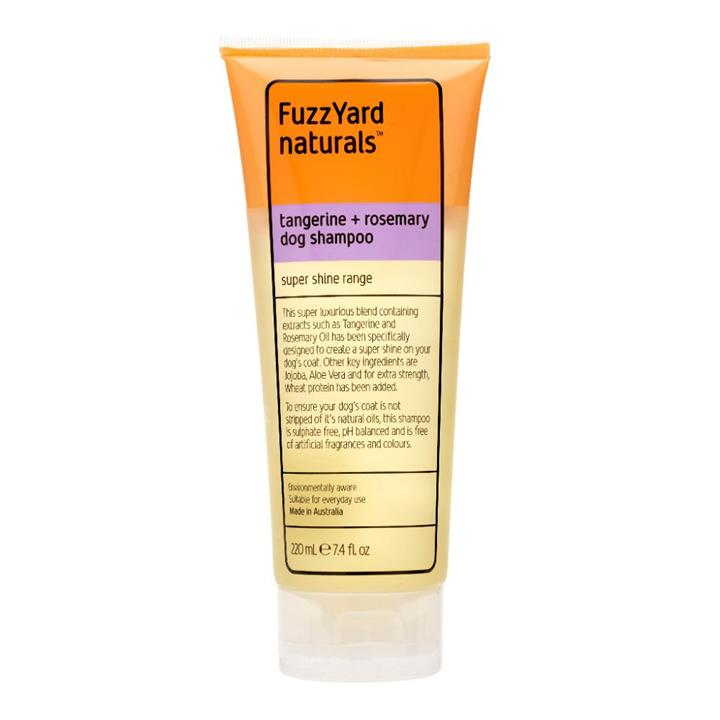 FuzzYard Tangerine & Rosemary Super Shine Dog Shampoo 220ml