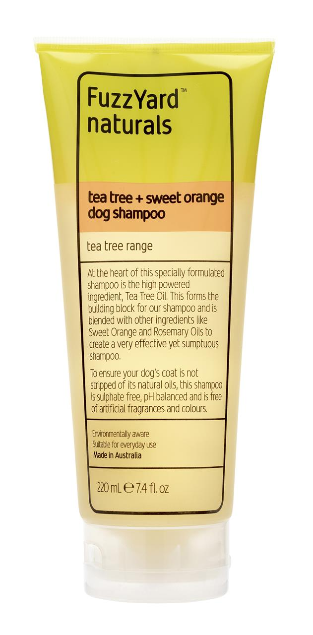 FuzzYard Tea Tree & Sweet Orange Tea Tree Dog Shampoo 220ml