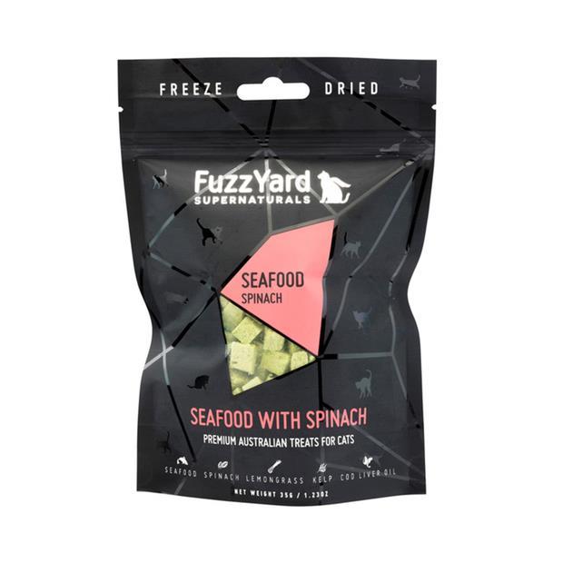 Fuzzyard Supernaturals Cat Treats Seafood 2 X 25g