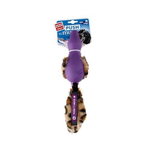GiGwi Push To Mute Plush Tail Duck Purple