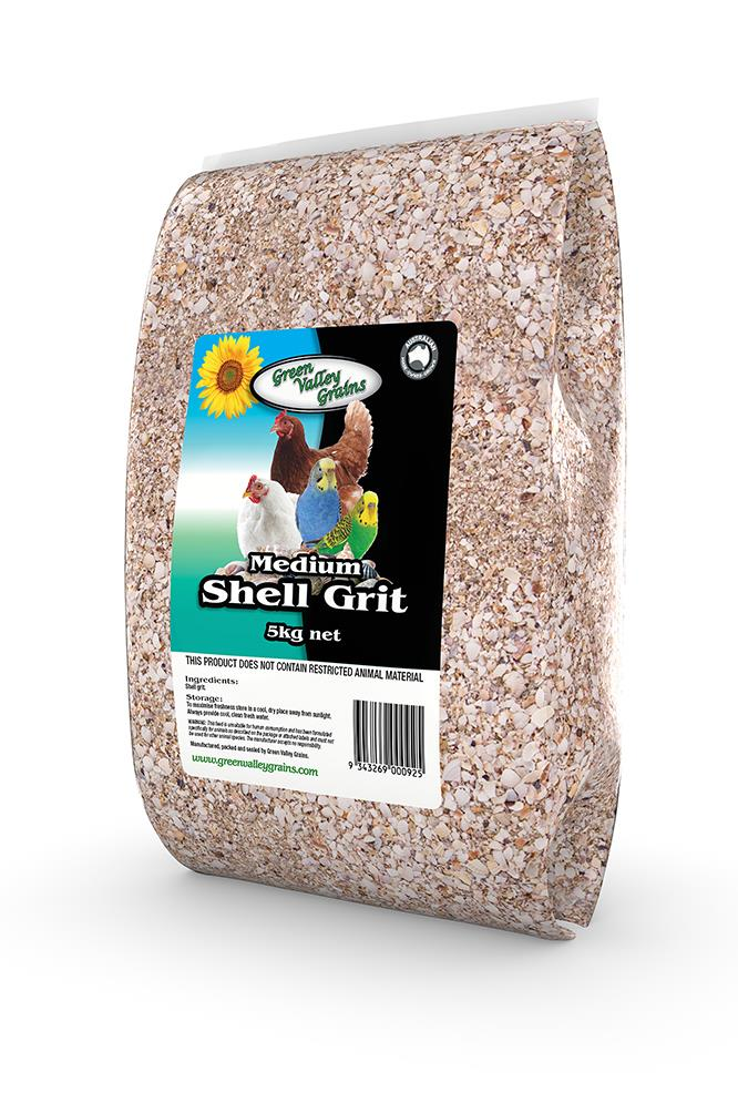 Green Valley Grains Shell Grit Medium 5kg