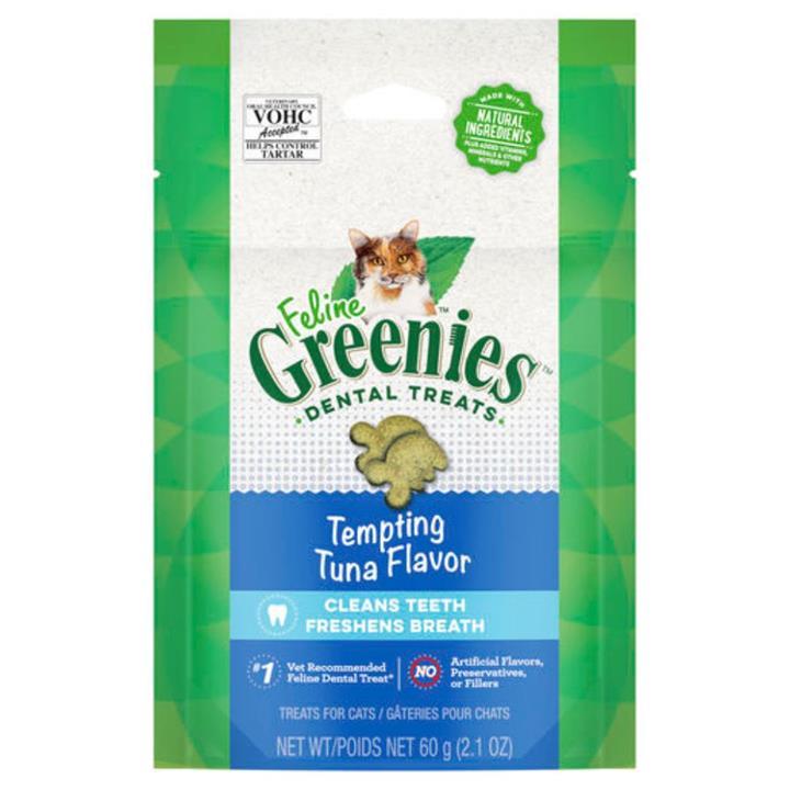 Greenies Feline Dental Treats Tempting Tuna Flavour 60g