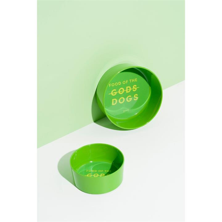 Gummi Food of The Good Dogs Green Melamine Dog Bowl