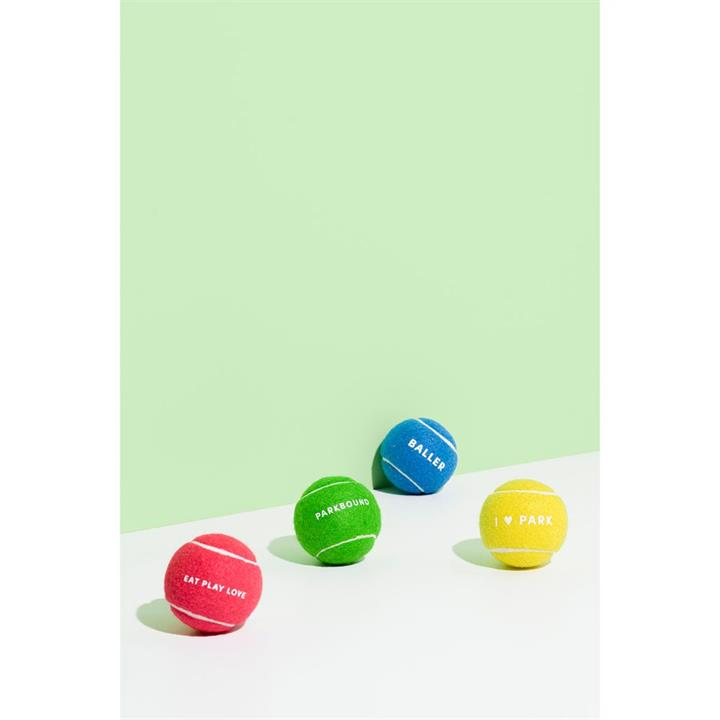 Gummi Play Time Tennis Ball Dog Toy 4 Pack