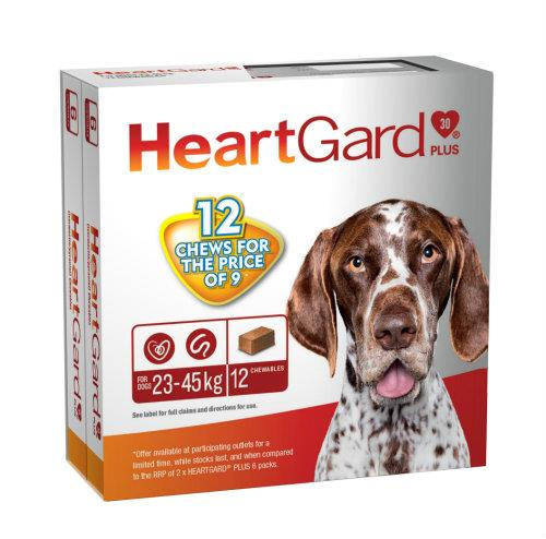 Heartgard Plus 23-45kg Large Brown 12 pack