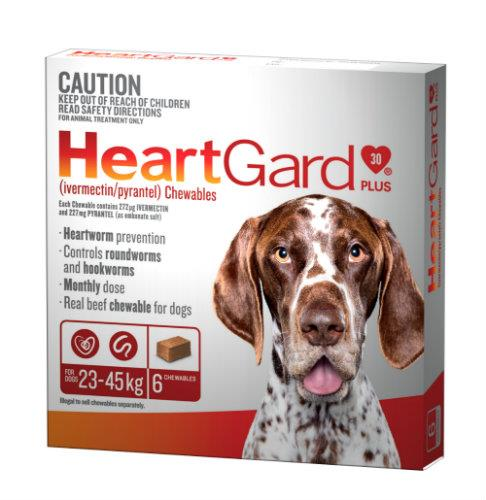 Heartgard Plus 23-45kg Large Brown 6 pack