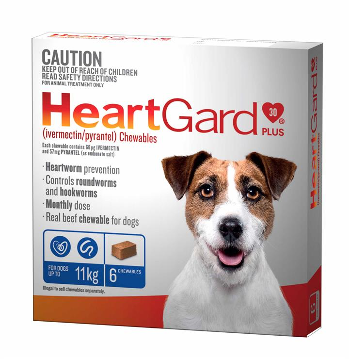 Heartgard Plus for Dogs up to 11kg Pack of 6