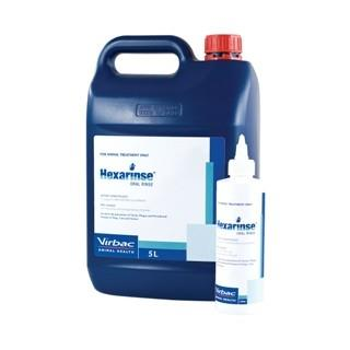 Hexarinse Oral Rinse for Dogs, Cats and Horses 5L
