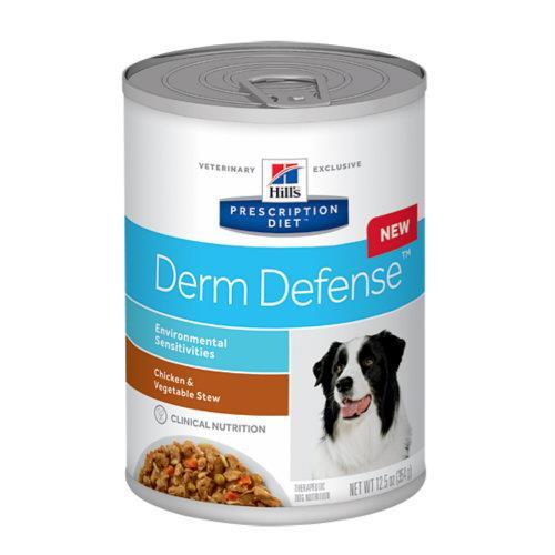 Hills Prescription Diet Canine Derm Defense Canned Dog Food 12x354g