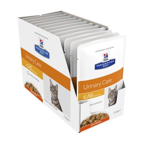 Hills Prescription Diet c/d Multicare Urinary Chicken Pouches 12 x 85g
