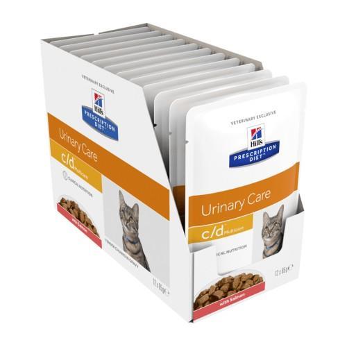 Hills Prescription Diet c/d Multicare Urinary Salmon Pouches 12 x 85g