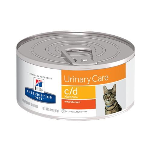 Hills Prescription Diet c/d Urinary Care Canned Cat Food 24x156g