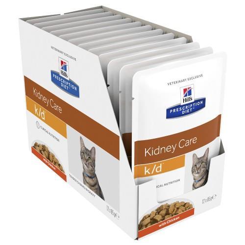 Hills Prescription Diet k/d Kidney Care Chicken Pouches 12x85g