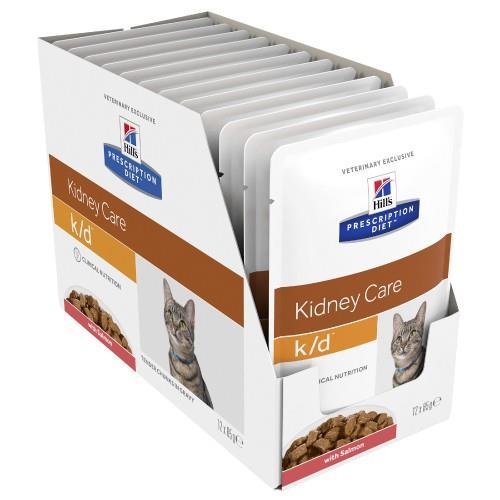 Hills Prescription Diet k/d Kidney Care Salmon Pouches 12x85g