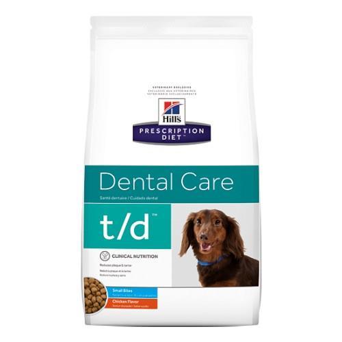 Hills Prescription Diet t/d Small Bites Dental Care Dry Dog Food...