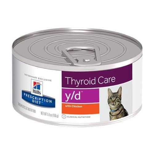 Hills Prescription Diet y/d Thyroid Care Canned Cat Food 24x156g