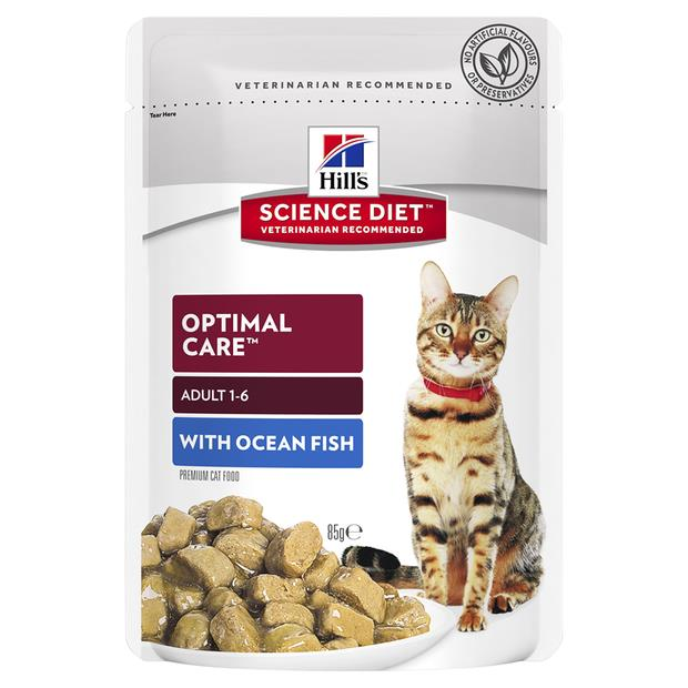 Hills Science Diet Adult Optimal Care Ocean Fish Wet Pouches 12 X 85g