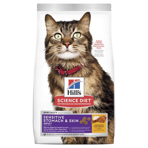 Hill's Science Diet Adult Sensitive Stomach & Skin Dry Cat Food 3.17kg