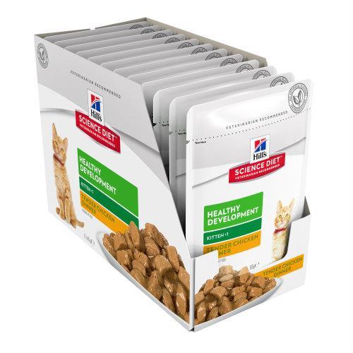 Hills Science Diet Kitten Healthy Development Chicken Pouches 12x85g