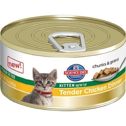 Hills Science Diet Kitten Tender Dinners Chicken Cat Food 156g x 24 Cans