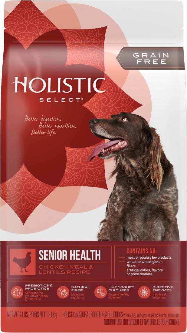 Holistic Grain Free Senior Health Chicken Meal & Lentils Dog Food 10.88kg