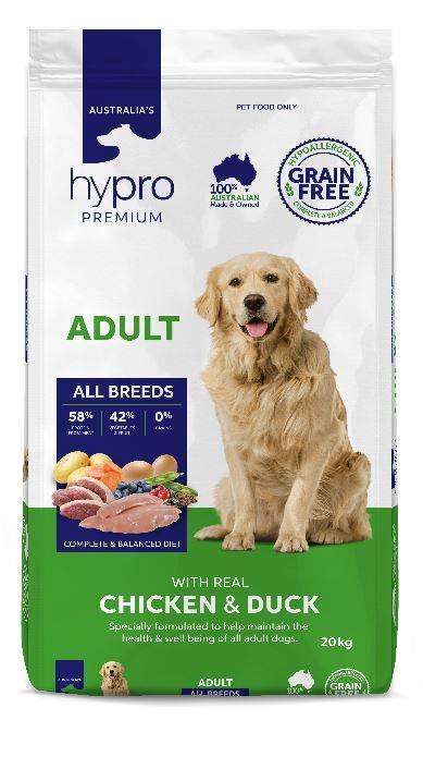 Hypro Premium Chicken & Duck Adult Dog Food 20kg