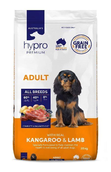 Hypro Premium Kangaroo & Lamb Adult Dog Food 20kg