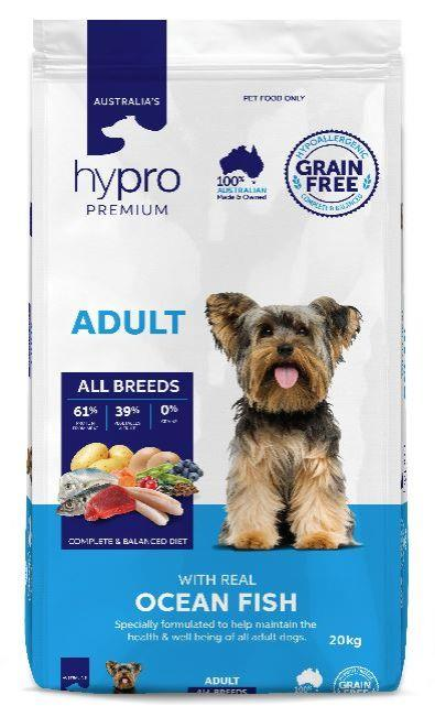 Hypro Premium Ocean Fish Adult Dog Food 20kg