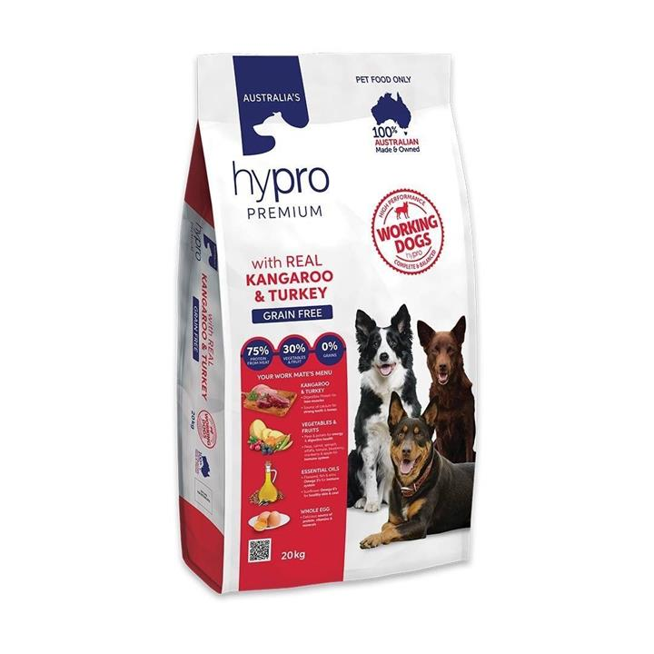 Hypro Premium Working Dog Kangaroo & Turkey Adult Dog Food 20kg