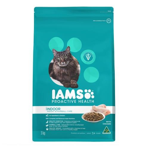 Iams Adult Indoor Weight and Hairball Care 3kg