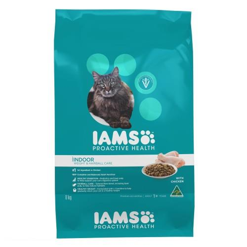 Iams Adult Indoor Weight and Hairball Care 8kg