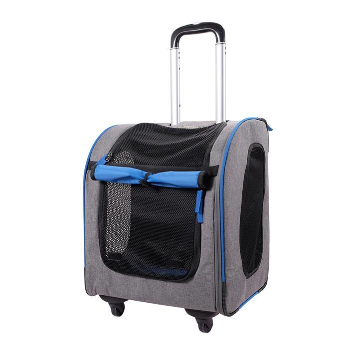 Ibiyaya New Liso Backpack Parallel Transport Pet Trolley - Slate/Sapphire