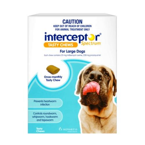 Interceptor Spectrum Chews Large 22-45kg Blue 6 pack