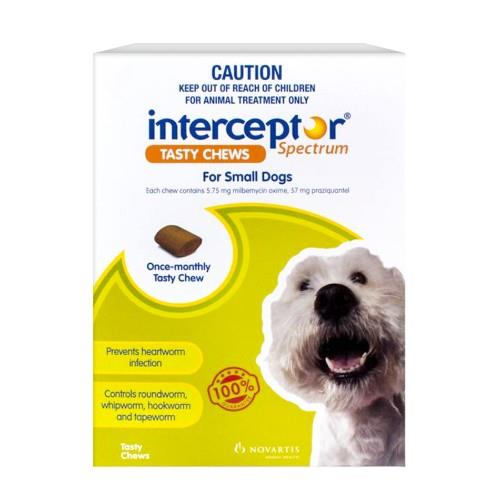 Interceptor Spectrum Chews Small 4-11kg Green 3 pack