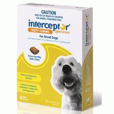 Interceptor Spectrum Chews Small 4-11kg Green 6 pack