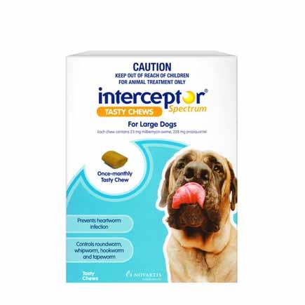 Interceptor Spectrum Tasty Chews for Large Dogs Pack of 6