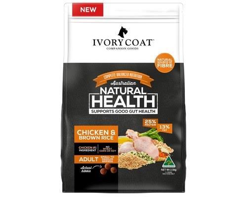 Ivory Coat Adult Chicken & Brown Rice Wholegrain Dog Food 2.5kg