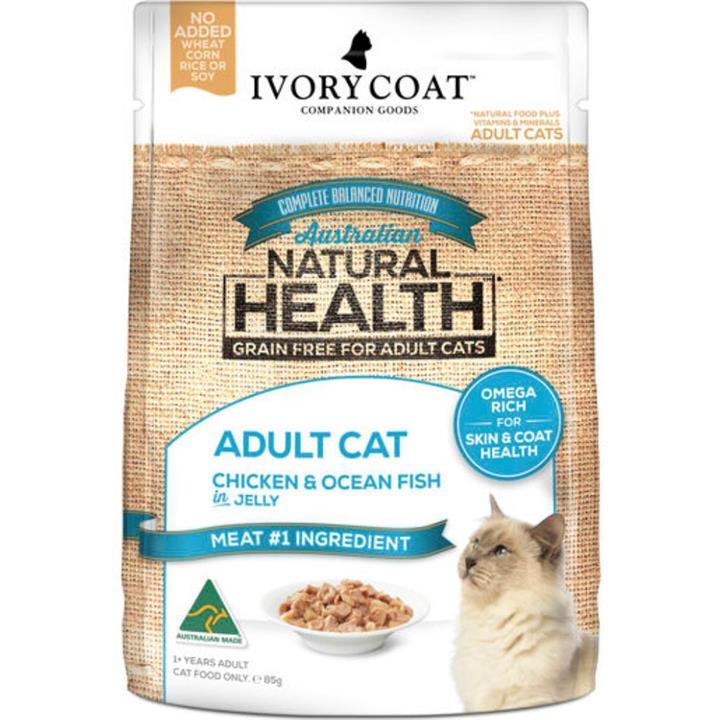 Ivory Coat Adult Chicken & Ocean Fish in Jelly Wet Cat Food 12x85g