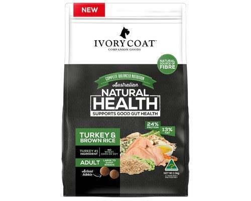 Ivory Coat Adult Large Breed Turkey & Brown Rice Wholegrain Dog Food 2.5kg