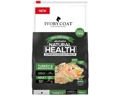 Ivory Coat Adult Large Breed Turkey & Brown Rice Wholegrain Food 18kg