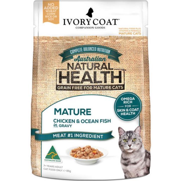 Ivory Coat Adult Lite & Mature Chicken & Ocean Fish in Gravy Wet Cat Food 12x85g